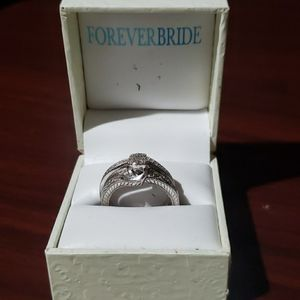 Silver Forever Bride Wedding Ring and Band